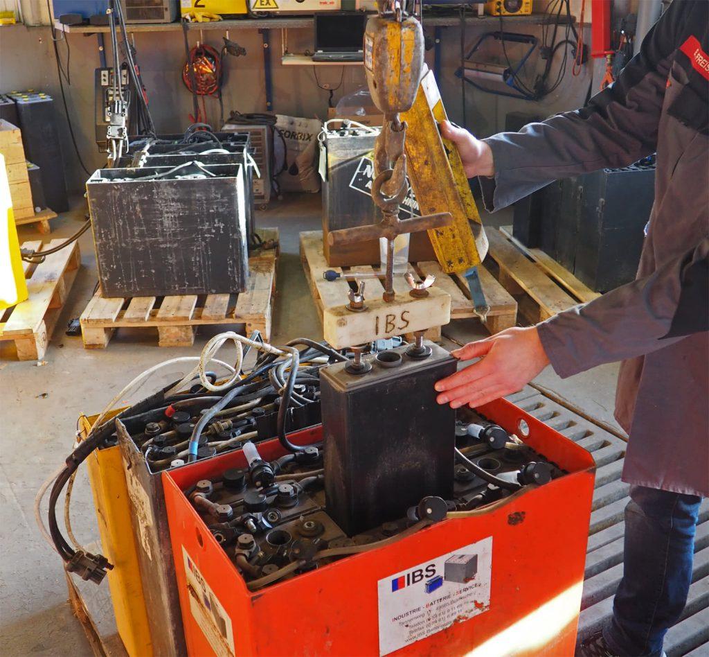 Reparatur Einer Staplerbatterie